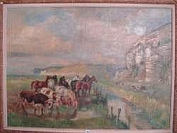 RAYMOND LECOURT (1882-1946) - Paysage de Normandie