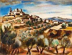 HENRY DE WAROQUIER (1881-1970) - Village provençal