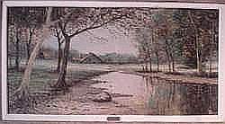 RENÉ PERROT (né en 1912) - La rivière