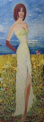 TOUCHAGUES Louis (1893-1974) - L'élégante, 1971