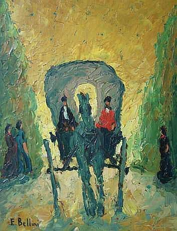 BELLINI Emmanuel (1904-1989) - La carriole 500 /