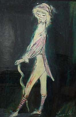 LAVILLE Henri (né en 1916) - Jeune fille à la