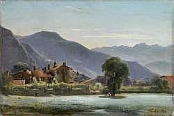 Louis-Auguste LAPITO - Village au pied des