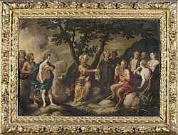 Attribué à Jan TENGNAGEL - Apollon et le roi Midas