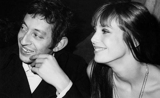 Alain QUEMPER (né en 1947) Serge Gainsbourg et Jane Birkin, c.1969