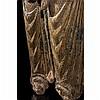 Vierge en Majesté en peuplier sculpté avecrestes de polychromie et de dorure, dos creusé.