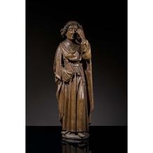 Saint Jean de Calvaire en chêne sculpté enronde-bosse. Debout, la jambe gauche fléchie