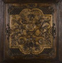 Panneau en bois et stuc doréXVIIIème siècle