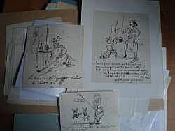 CHAM (Paris 1819 - 1879) - Lot de 16 caricatures