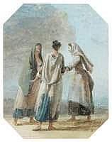 Jean HOUEL (Rouen 1735 - Paris 1813) - Trois