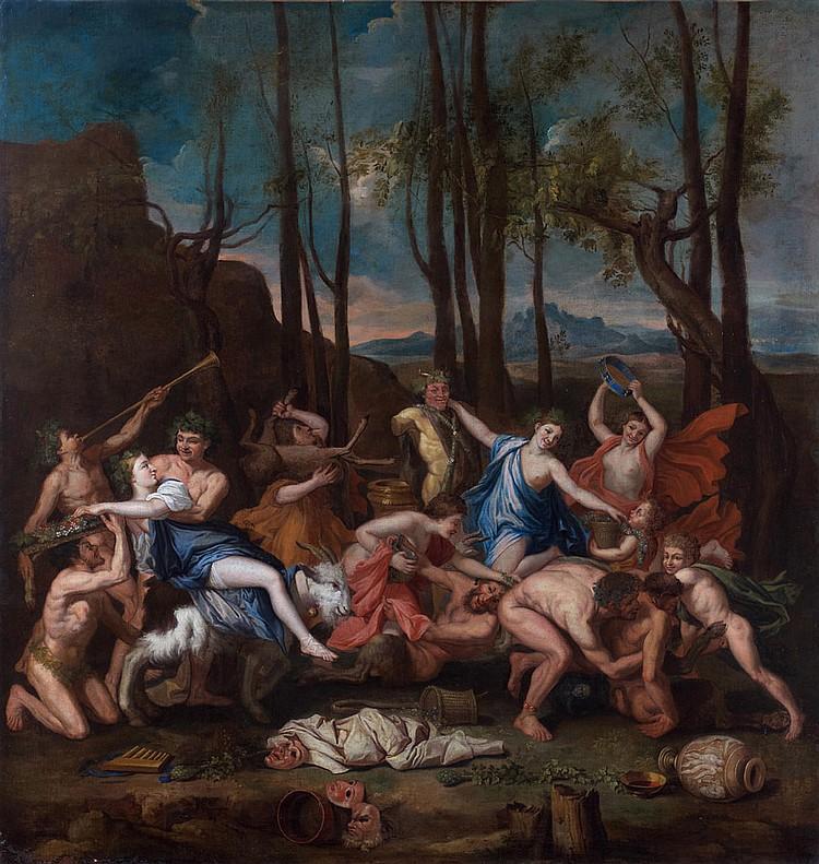 École FRANÇAISE du XVIIe siècle, suiveur de Nicolas POUSSIN Le Triomphe de Pan