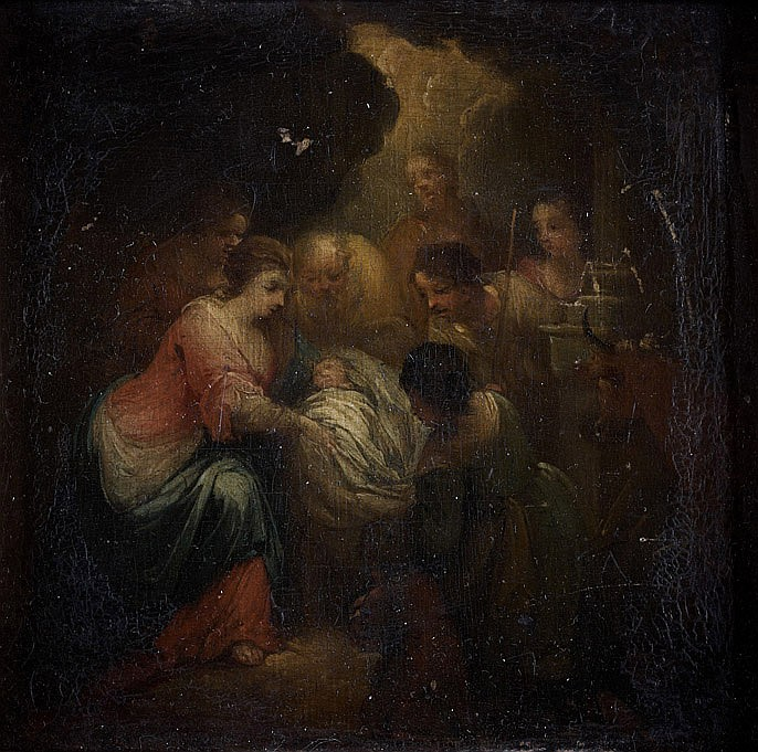 École FLAMANDE de la fin du XVIIe siècle La Nativité