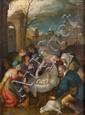 École FLAMANDE du XVIIe siècle, atelier de Frans FRANCKEN L'Adoration des mages Cuivre 35 x 26 cm