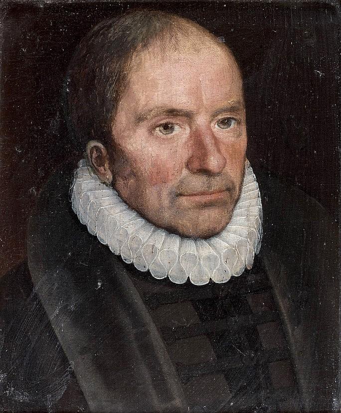 École HOLLANDAISE vers 1600 Portrait d'homme à la collerette