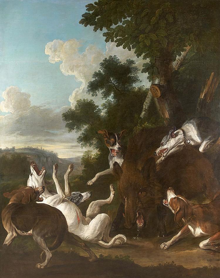 Alexandre-François DESPORTES (Champigneulle 1661- Paris 1743) Hallali de sanglier