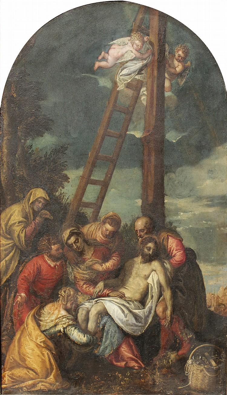 Benedetto CARLIERI (Verone 1538- ? 1598) La Déposition du Christ