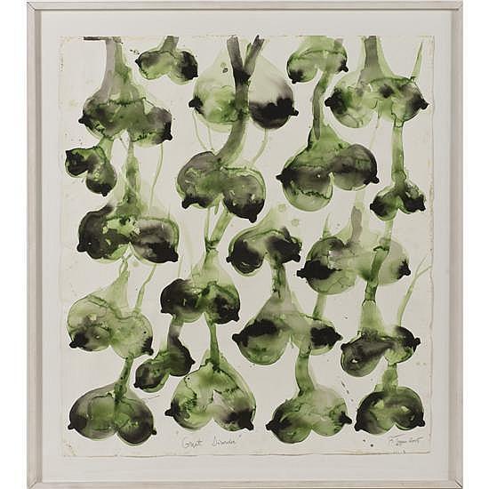 Barthélémy Toguo (né en 1967) The great disorder, 2005 Aquarelle sur papier Œuvre signée et datée en bas à droite, titrée au centre ...