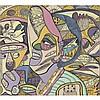 Emmanuel Ekefrey (né en 1952) Victory Song, 2007 Acrylique sur toile Œuvre signée et datée en bas à droite 53,3 × 59 cm, Ekong Ekefrey, Click for value