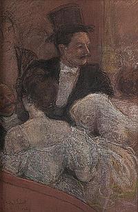 André SINET (1867-1923) Au théâtre, 1896