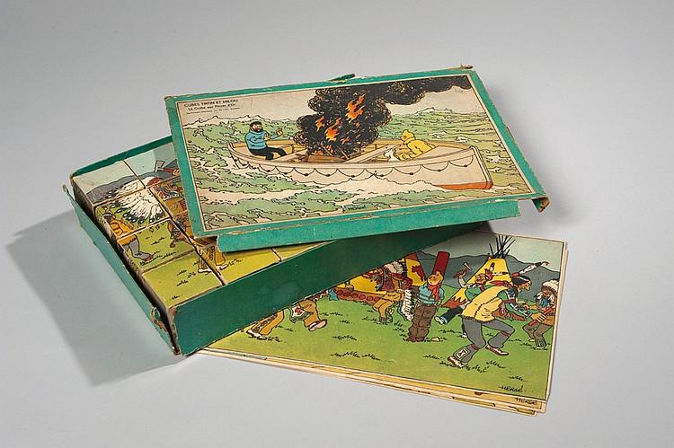 Jeu de cubes Tintin et Milou