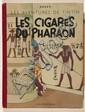 Les Cigares du PharaonCasterman. Edition de 1942, grande image. 4e plat A 18. Album en très, très bel état. Couverture somptueuse, 4...