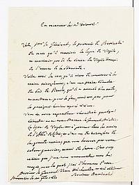 Saverio BETTINELLI (1718-1808) jésuite italien, écrivain et pédagogue. 6 L.A.S., Mantoue 1805-1806, au général de CAMPREDON, à l'Arm..