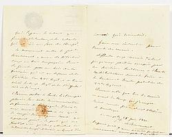 Louis de BOURMONT (1773-1846) maréchal de France. P.A.S., [Algérie] au camp le 25 juin 1830 ; 3 pages in-8, vignette et en-tête Expé...