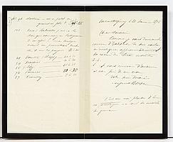 Alfred BOVET (1841-1900) industriel, collectionneur d'autographes. 2 L.A.S., Valentigney janvier-mars 1875, à Gabriel CHARAVAY ; 5 p..