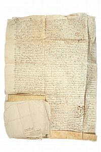 BRETAGNE. Environ 150 lettres ou pièces, 1505-1819 ; nombreuses pièces sur vélin (mouill. et défauts à certains doc.), cachets fisca...
