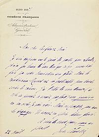 Jules CLARETIE (1840-1913). 49 L.A.S., Paris et Viroflay 1885-1913, [à Max et Alexandre FISCHER (29), ou à Ferdinand DREYFUS (20)] ;...