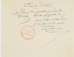COMMUNE. Plus de 45 lettres ou pièces, la plupart signées, 2 avril-23 mai 1871 ; qqs en-têtes, la plupart avec cachets encre. Cert...