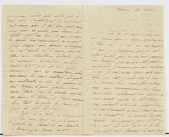 Alfred de FALLOUX (1811-1886) homme politique et écrivain. L.A.S.