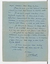 Robert WLÉRICK (1882-1944) sculpteur. 2 L.A.S., mars-avril 1938, à une amie ; 4 pages in-4. Belles lettres de condoléances, dans le...