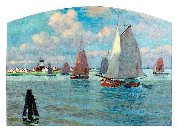 EUGENE CHIGOT (1860-1927) - BRAS DE MEUSE,