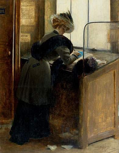 ALBERT GUILLAUME (1873-1942) - LE PETIT BLEU