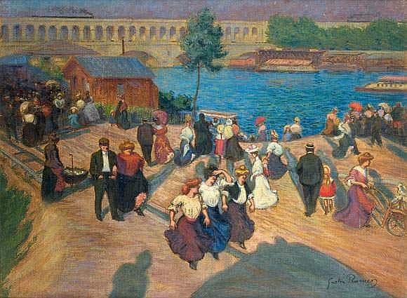 GASTON PRUNIER (1863-1927) - LE QUAI DE JAVEL,