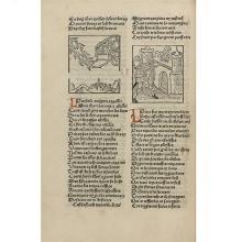 LORRIS, Guillaume de, et Jean de Meung Le Rommant de la Rose [Lyon], [Guillaume Le Roy], [vers 1487]   TROISIÈME ÉDITION INCUNABLE  ...