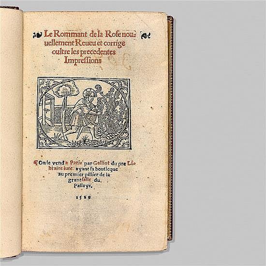 LORRIS, Guillaume de, et Jean de MeungLe Rommant de la Rose, nouuvellement reueu et corrigé