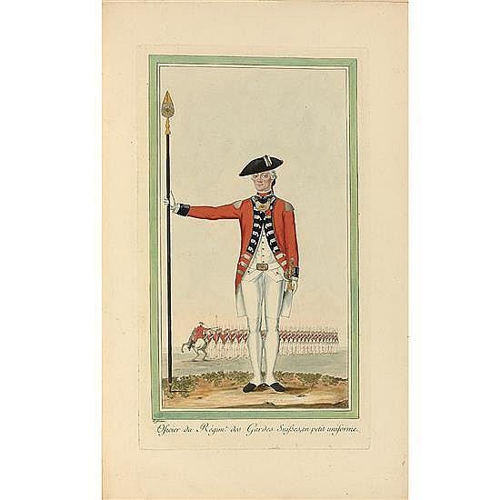 [Louis XVI]. [HOFFMANN, Nicolas][Les Régiments suisses et grisons au service de la France]