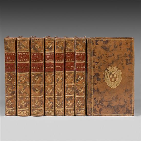 RABELAIS, François Le Rabelais moderne,  ou Les Œuvres de Maître François Rabelais Amsterdam [Paris], Jean Frederic Bernard, 1752   ...