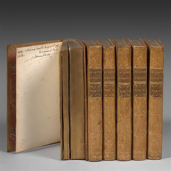 ROUSSEAU, Jean-Jacques  Julie ou La Nouvelle Héloïse  Amsterdam, Marc Michel Rey, 1761   RAVISSANT EXEMPLAIRE DE BURE, FINEMENT RELI...
