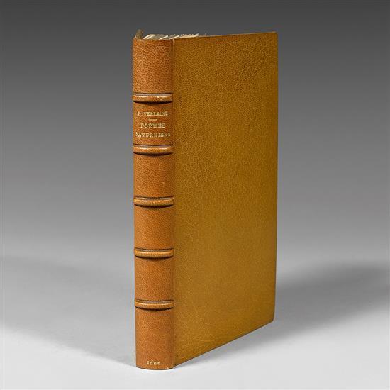 VERLAINE, Paul Poèmes saturniens Paris, Alphonse Lemerre, 1866. RARE EXEMPLAIRE SUR HOLLANDE.