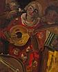 Ecole Moderne Joueurs à la mandoline Huile sur toile, porte une signature en bas à gauche et une date, 1918 73,5 × 60 cm Provenance:...
