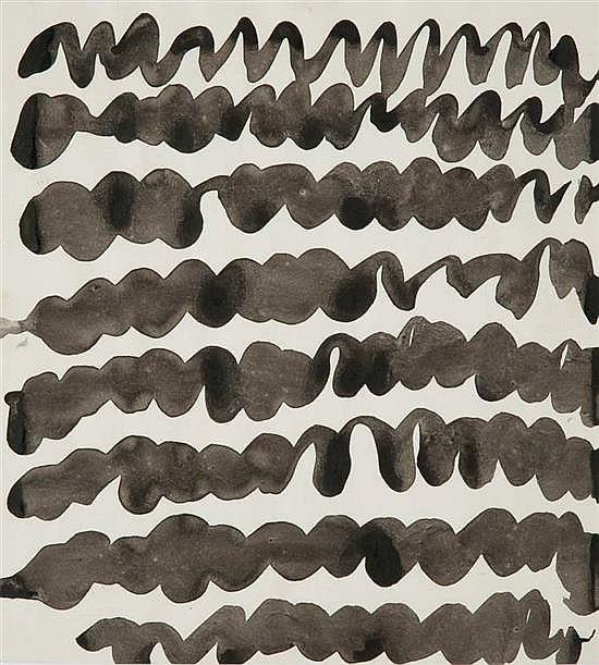 Pierrette BLOCH (née en 1928) Composition, circa 1987