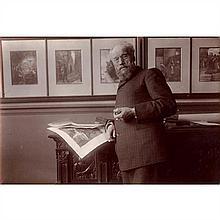 Jean-Paul LAURENS (Fourquevaux, 1838 - Paris, 1921) Peintre et sculpteur, chez lui, le 12 novembre 1905
