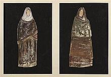 Attribué àYannis TSAROUCHIS (1910-1989) Ensemble de 22 projets de costume pour la pièce adaptée par Jean-Paul Sartre, les Troyen...
