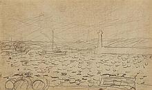 Pierre BONNARD (1867-1947) Paysage, études de personnages, divers Un carnet comprenant vingt esquisses au crayon noir 11,6 × 7,5 cm ...