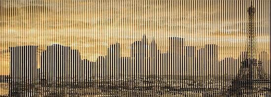 Patrick RUBINSTEIN (né en 1960) From Paris to New York, 2012 Photographie en couleurs pliée, portant au dos du cadre un certificat d...