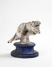 Jules DESBOIS (1851-1935) Faunesses Plâtre (coutures) Trace de signature H 15 cm