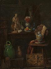 Adolphe Félix CALS (1810-1880) Nature morte Huile sur panneau signé en bas à droite 18,5 × 13 cm